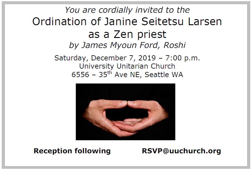 Ordination Imminent
